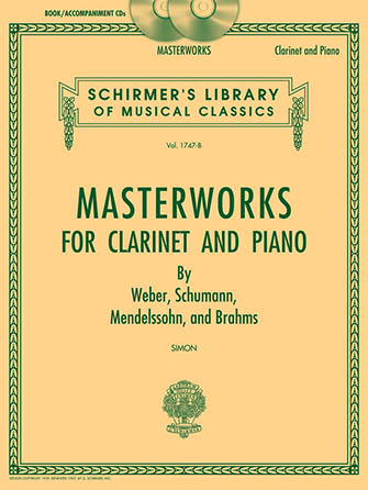 Masterworks for Clarinet and Piano Cover
