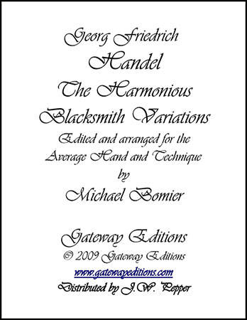 Harmonious Blacksmith Variations