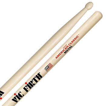 Vic Firth American Classic Metal Wood Tip Drum Sticks