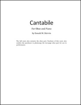 Cantabile for Oboe and Piano