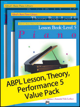 Alfred's Basic Piano Library Lesson, Theory, Recital Level 5