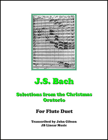 Bach's Christmas Oratorio Selections - flute duet