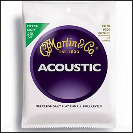 12 String Acoustic Guitar Strings M180 Bronze 80/20