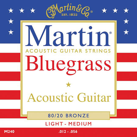 Acoustic Guitar Strings Traditional 80/20  Bronze Bluegrass  M240