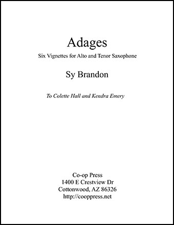 Adages for Alto and Tenor Saxophone