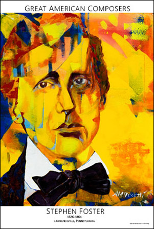 Great American Composers Poster: Stephen Foster