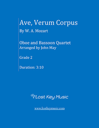 Ave Verum Corpus (Oboe and Bassoon Quartet)