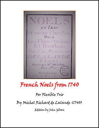French Noels from 1740 (flexible trio)