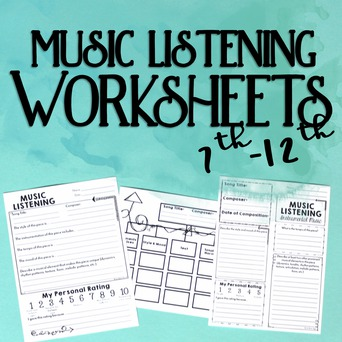 Music Listening Worksheets Level 2