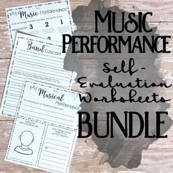 Music Performance Self-Evaluation Worksheets Bund | J W  Pepper