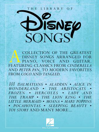 The Library of Disney Songs vocal sheet music cover