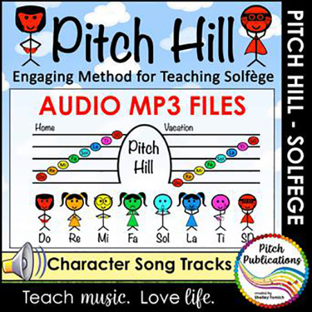 Pitch Hill Solfege Method Accompaniment Audio MP3's
