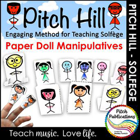 Pitch Hill Solfege Method: Paper Doll Puppet Manipulatives