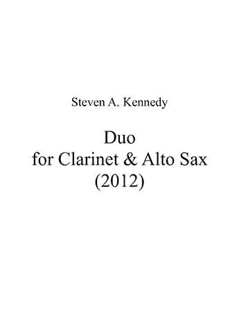 Duo for Clarinet and Alto Sax