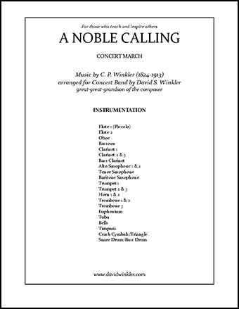 A Noble Calling