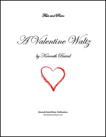 A Valentine Waltz for flute and piano