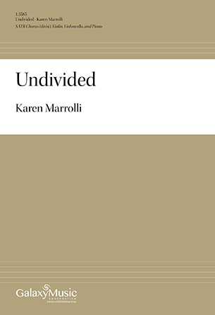 Undivided community sheet music cover