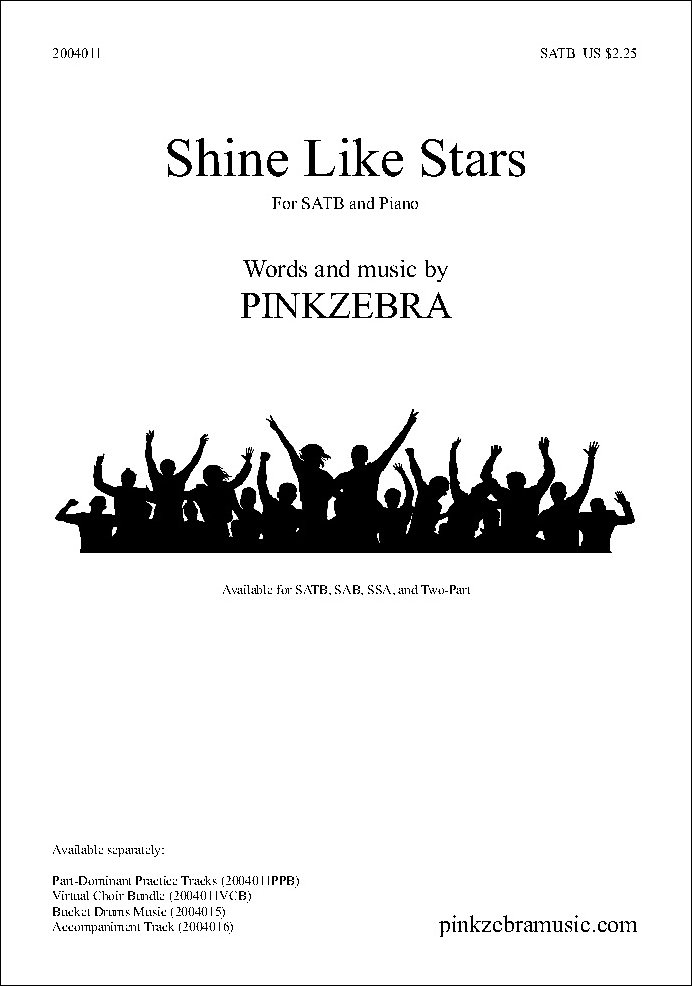 Shine Like Stars choral sheet music
