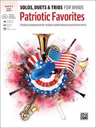 Solos, Duets & Trios for Winds: Patriotic Favorites brass sheet music cover