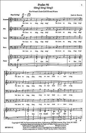 psalm 98 (sing! sing! sing!) (satb ) by jose | j.w. pepper sheet music  jw pepper