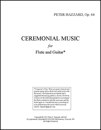 Ceremonial Music for Flute and Guitar