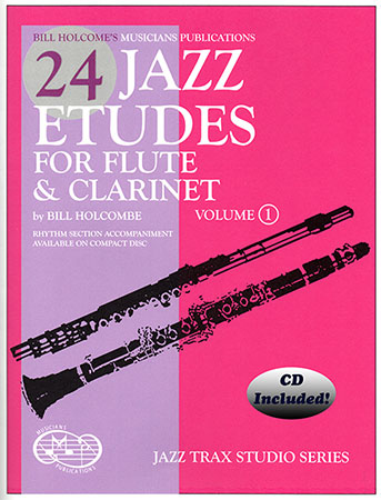 24 Jazz Etudes for flute and Clarinet, Volume 2