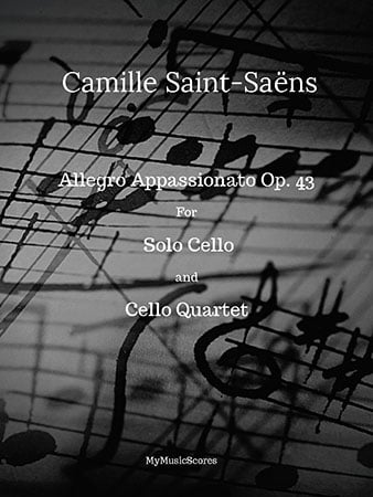 Allegro Appassionata Op. 43 for Solo Cello and Cello Quartet