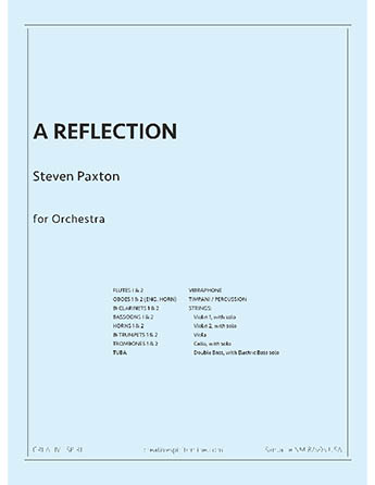 A REFLECTION for orchestra
