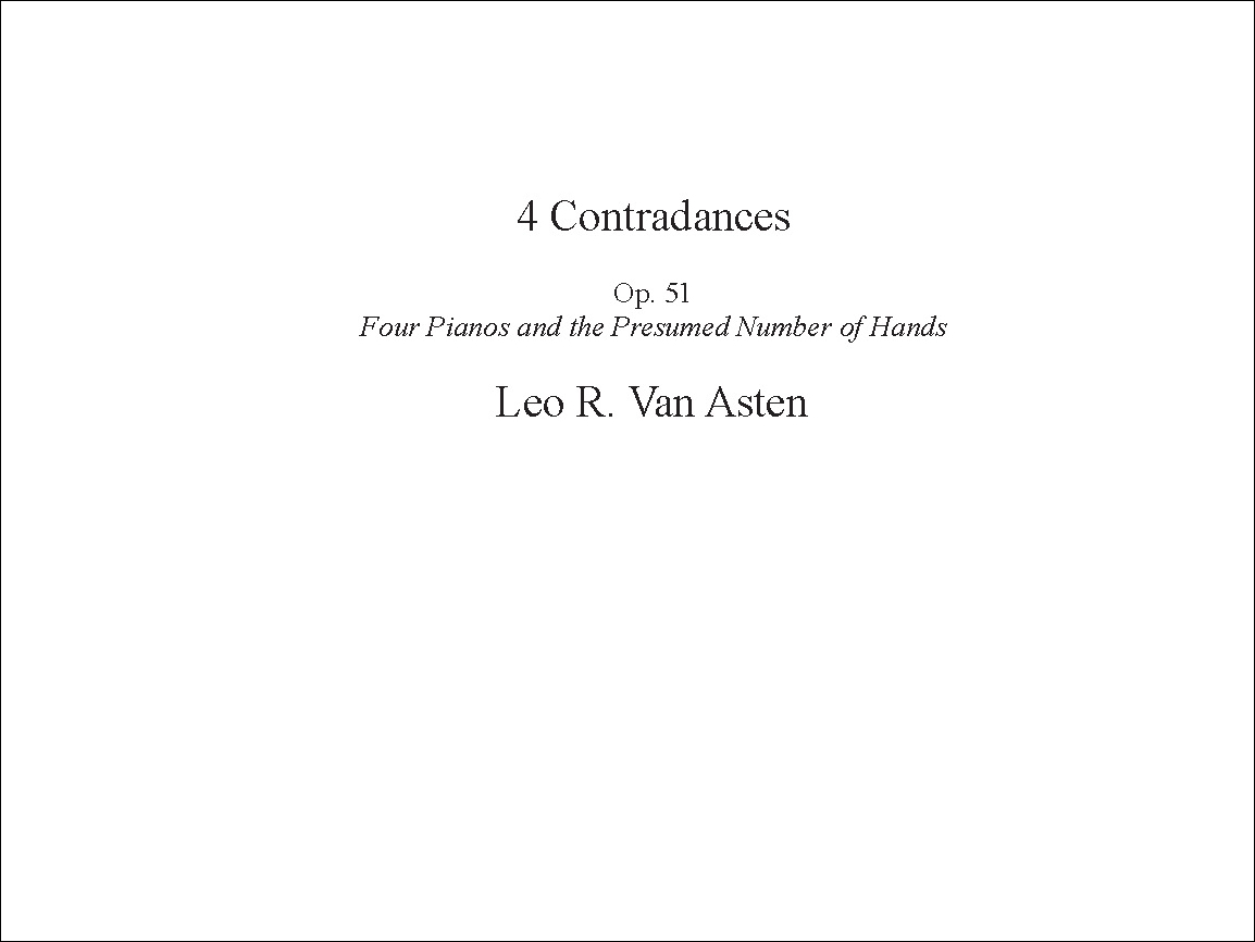 4 Contradances for 4 Pianos P.O.D.