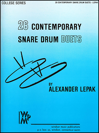 26 Contemporary Snare Drum Duets