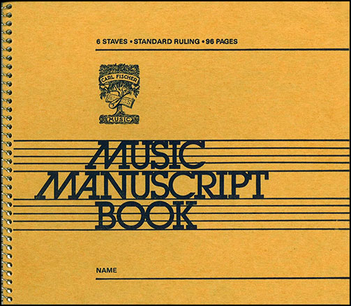 Music Writing Book-Coil Bound