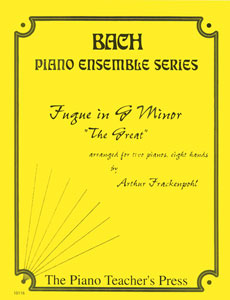 Fugue in G Minor-2 Pianos 8 Hands