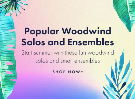 Popular woodwind solo and ensemble sheet music.