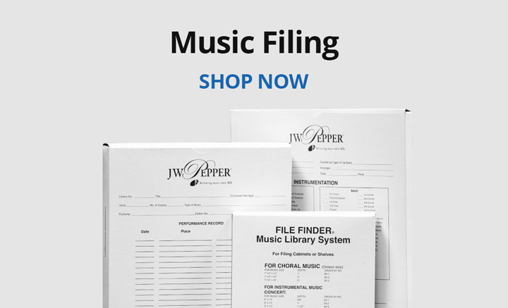 Shop music filing systems.