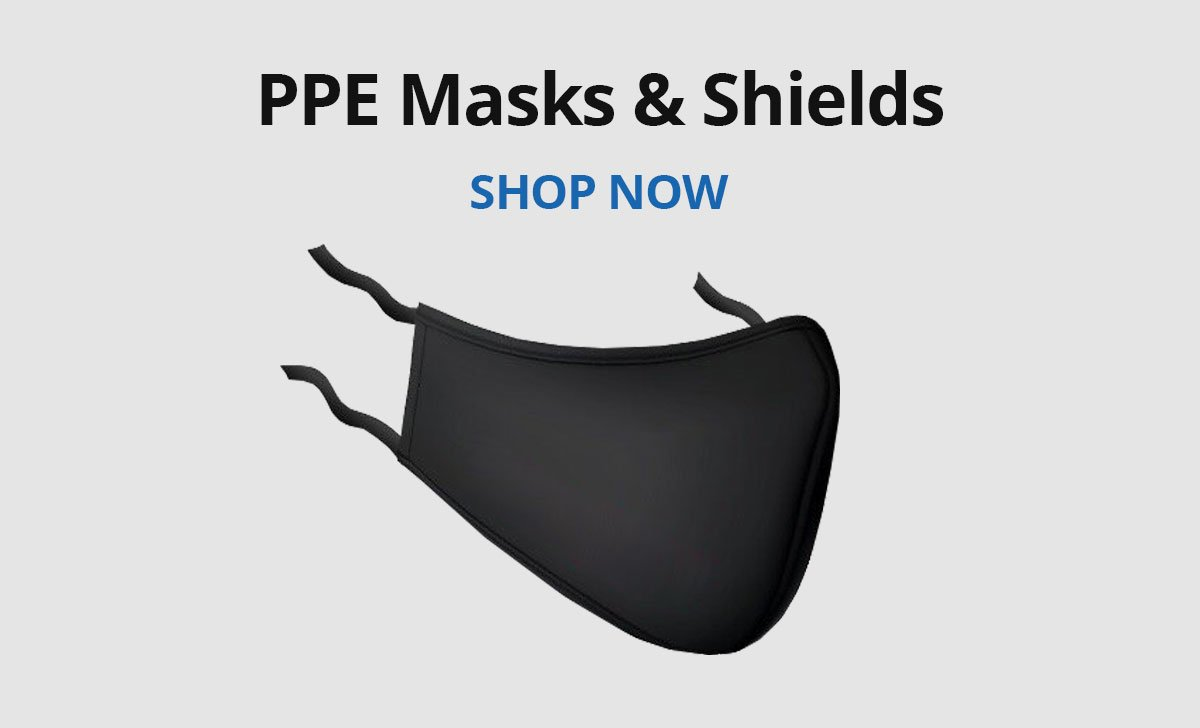 Shop PPE masks, shields, and dividers.