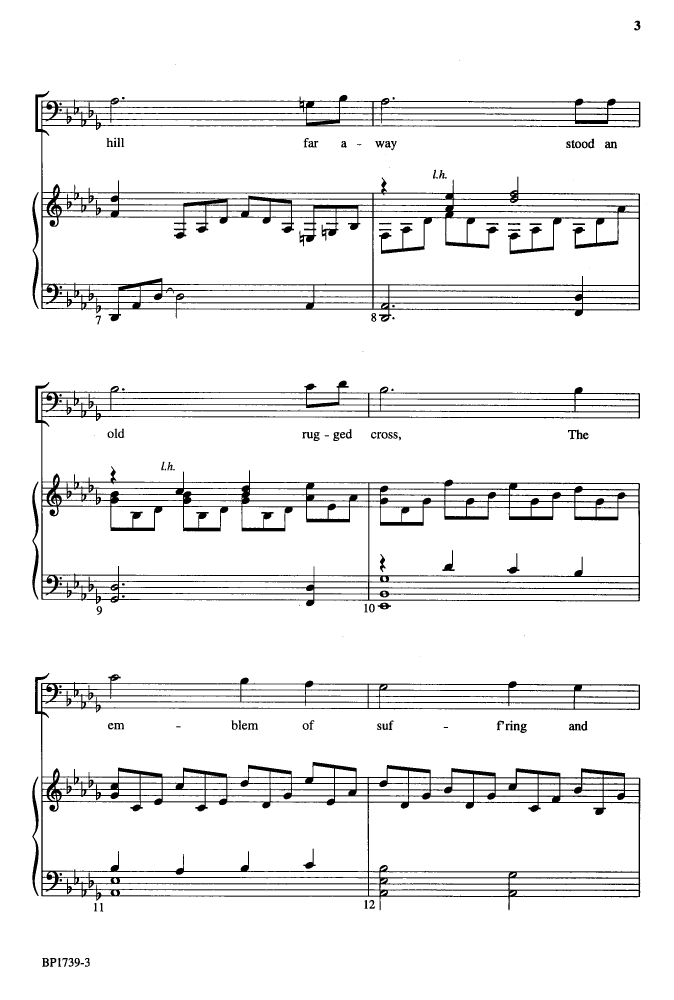 The Old Rugged Cross Sheet Music Key Of C Two Birds Home