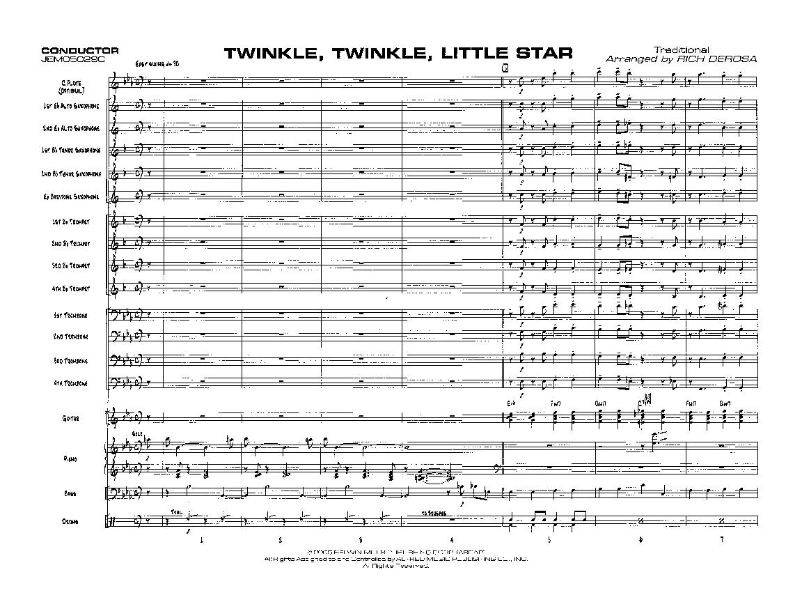 Twinkle Twinkle Little Star Additional Scorenb Jw Pepper