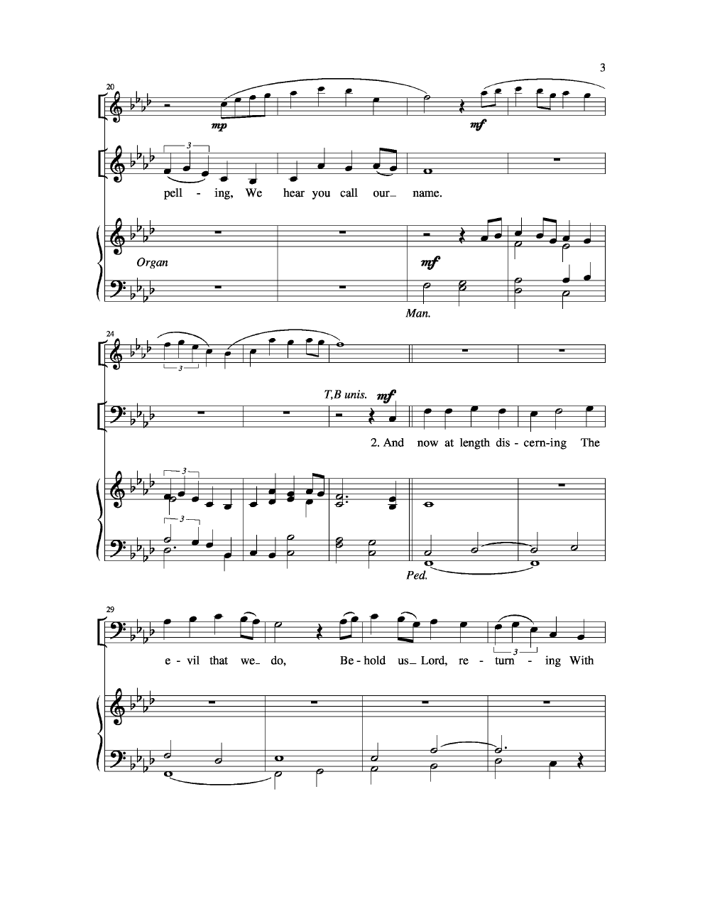 Our Father We Have Wandered Satb With Organ Jw Pepper Sheet Music