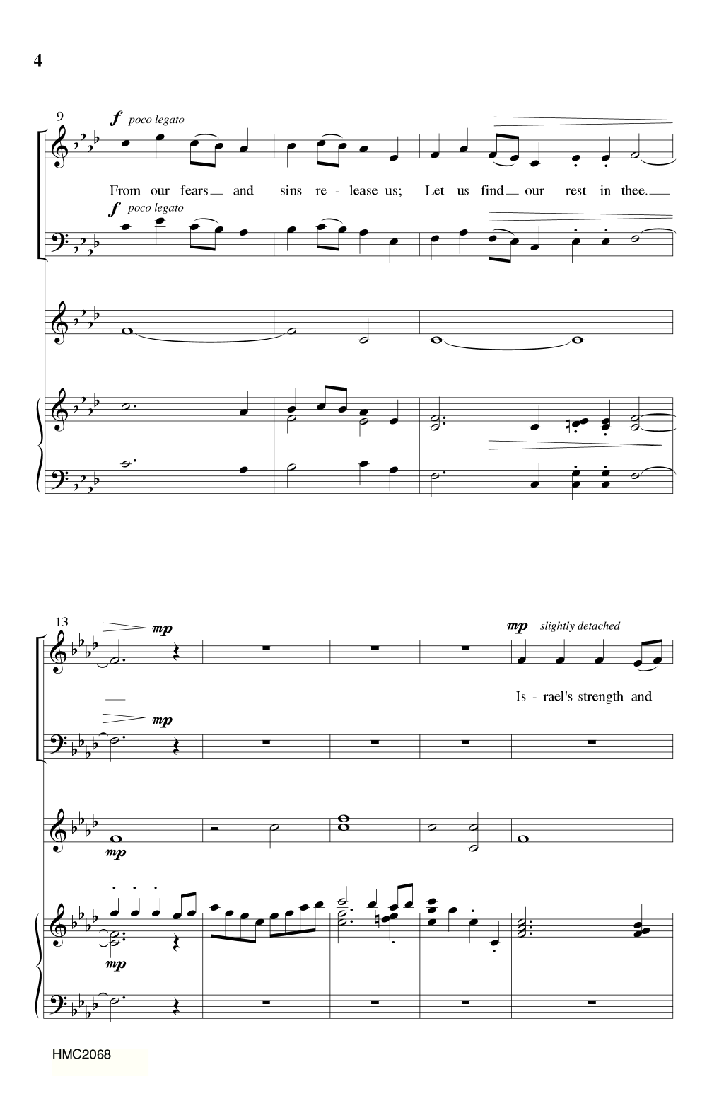 Come Thou Long Expected Jesus Satb By Do Jw Pepper Sheet Music