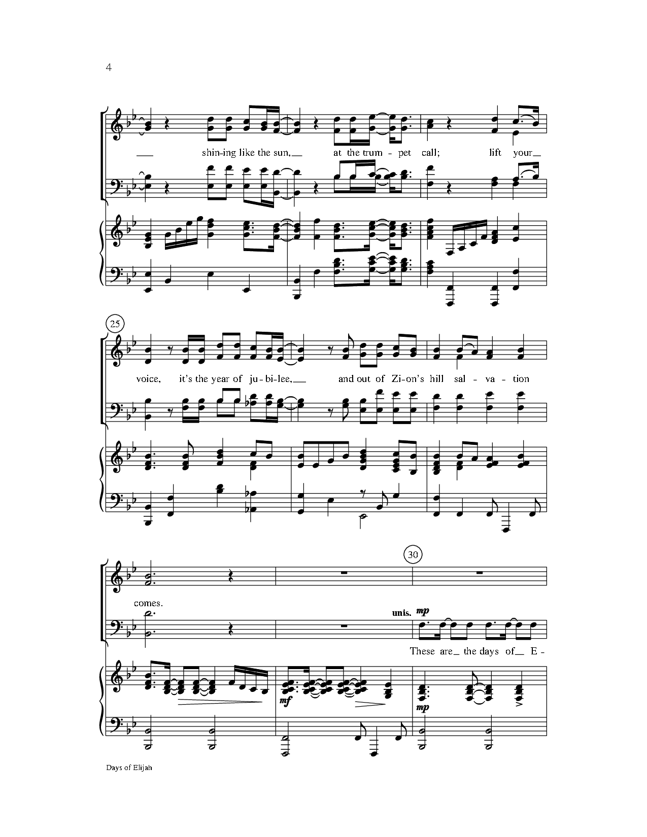 Days Of Elijah Satb By Robin Markarr Sc Jw Pepper Sheet Music