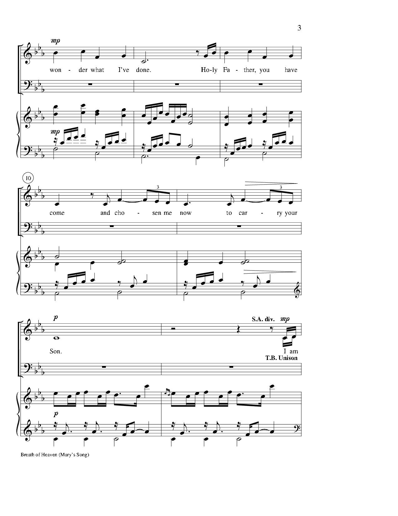 breath of heaven piano sheet music