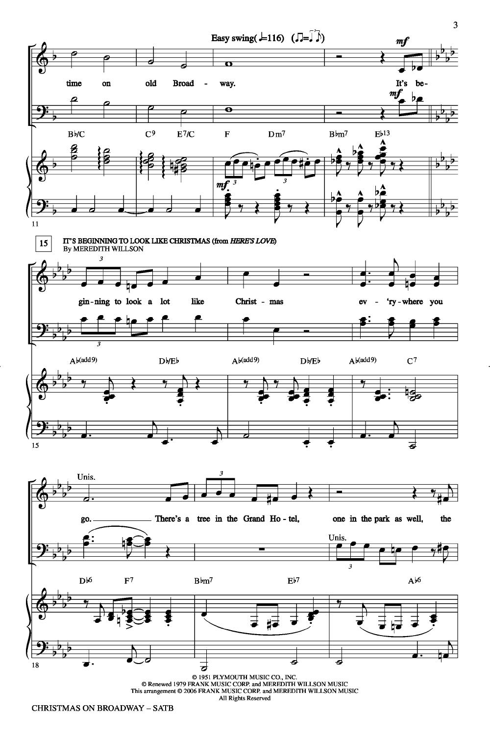 Christmas on Broadway (SATB ) arr. John Higg   J.W. Pepper Sheet Music