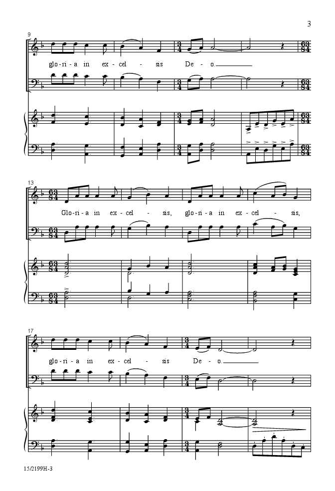 Gloria (SATB ) by David Giardiniere| J.W. Pepper Sheet Music