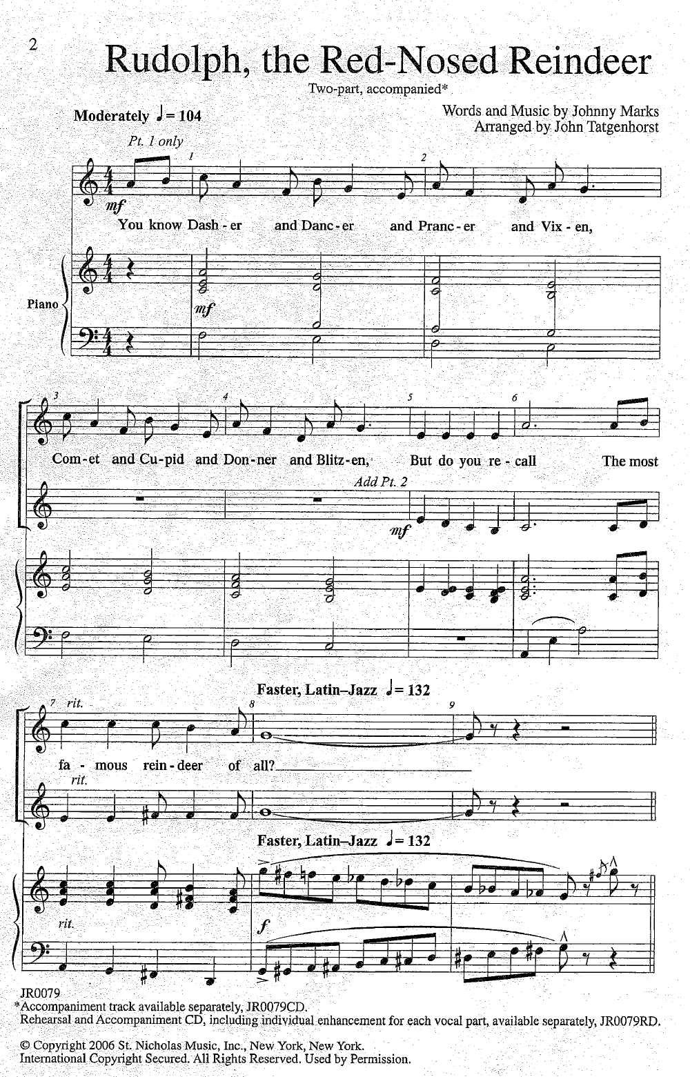 Rudolph The Red Nosed Reindeer Sheet Music Ibovnathandedecker