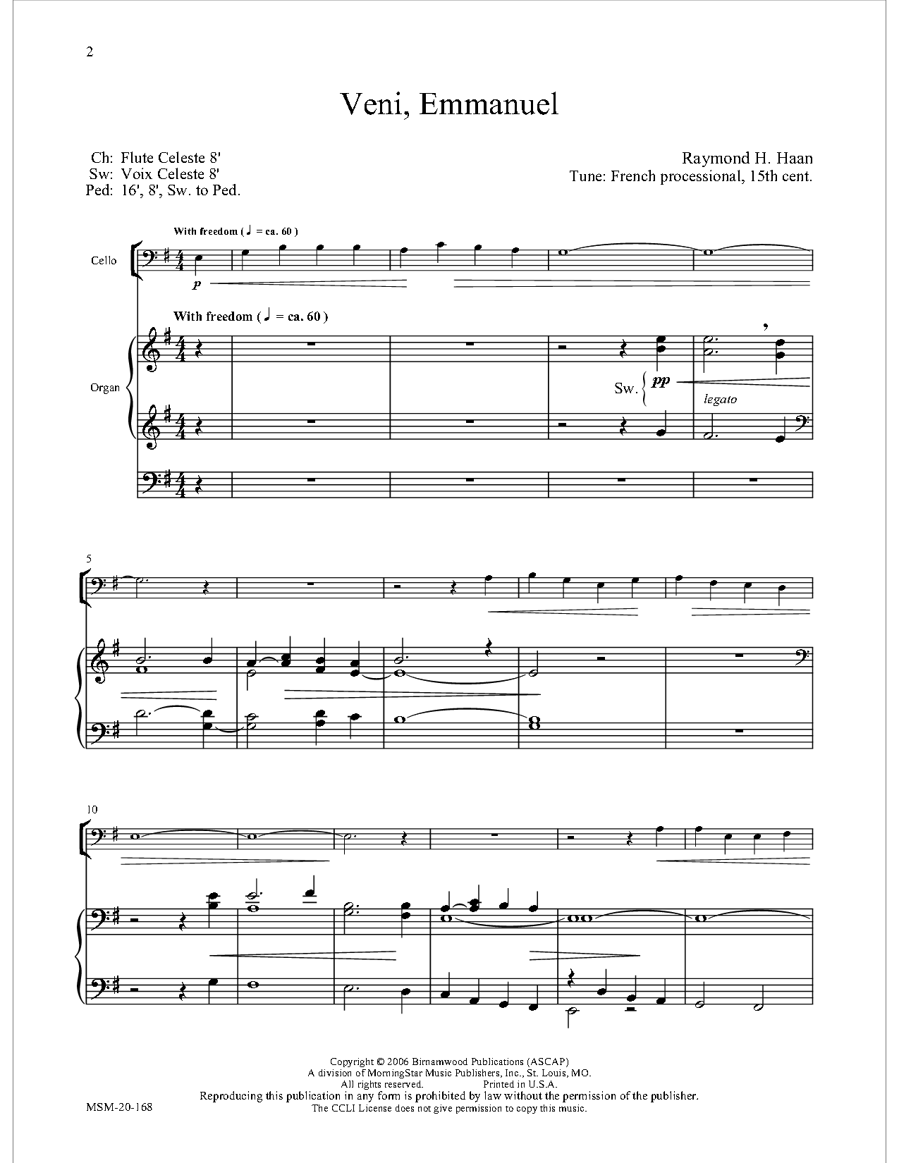O Come Emmanuel Cello Solo Collection With Jw Pepper Sheet Music