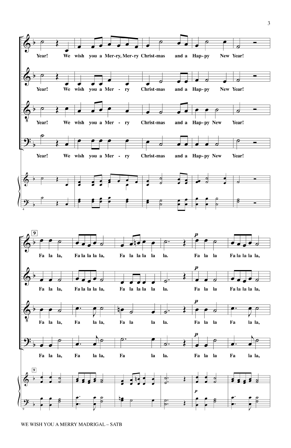 We Wish You a Merry Madrigal (SATB ) by Russ | J.W. Pepper Sheet Music