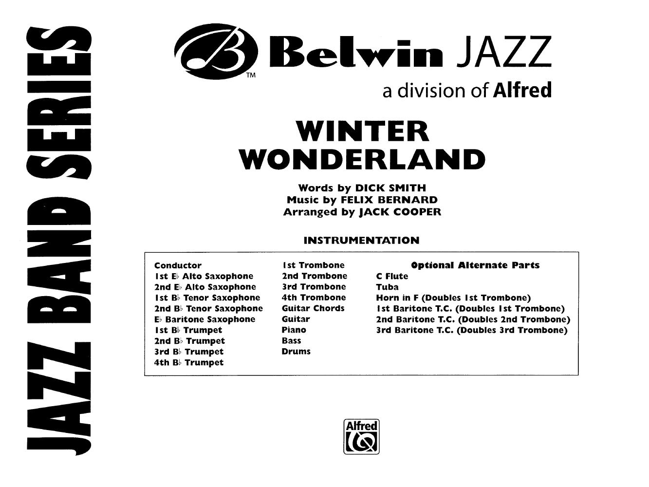 Winter Wonderland Additional Score Arr J Jw Pepper Sheet Music