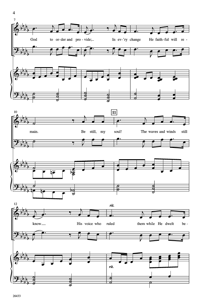 You Raise Me Up With Be Still My Soul Satb Jw Pepper Sheet Music