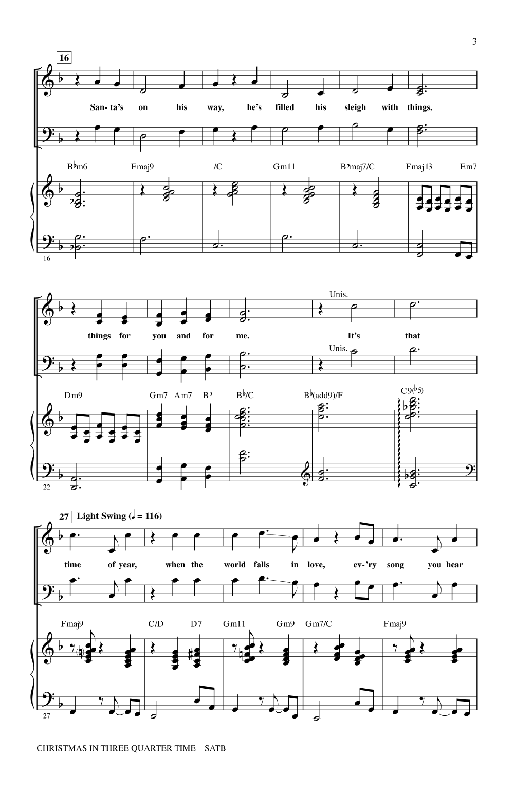 Christmas in Three-Quarter Time (SATB ) arr. | J.W. Pepper Sheet Music