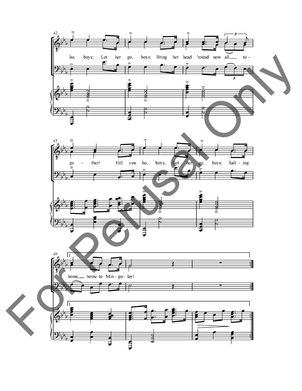 Mingulay Boat Song (TTB ) arr. Ken Berg| J.W. Pepper Sheet Music